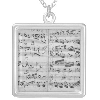 Autograph of the partita 'Sei gegruesset Silver Plated Necklace