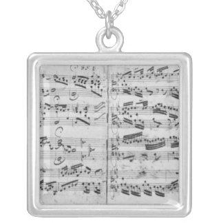 Autograph of the partita 'Sei gegruesset Square Pendant Necklace