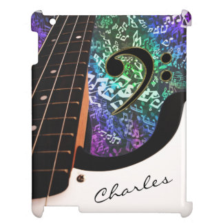 Autograph Rainbow Notes Electric Bass Guitar Case Cover For The iPad 2 3 4