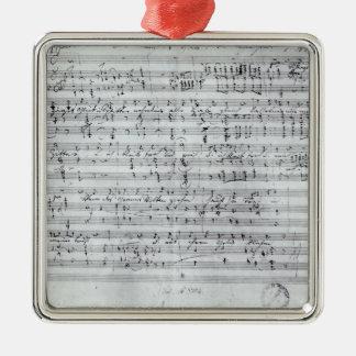 Autograph score for the lied 'Des Sangers Habe' Christmas Ornament