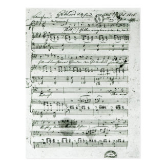 Autograph score for the lied 'Hektors Abschied' Postcard