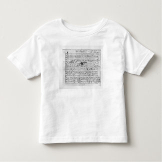 Autograph score for the lied 'Trost' Toddler T-Shirt
