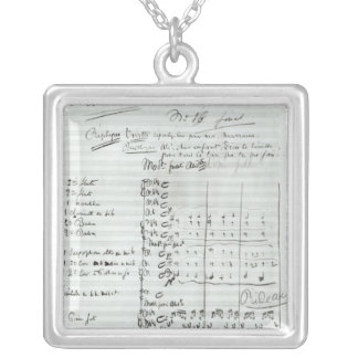 Autograph Score of Act III Silver Plated Necklace