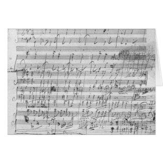 Autograph score sheet for the  Bagatelle opus Card