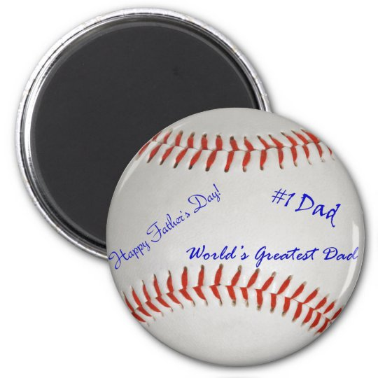Autographed Baseball Magnet