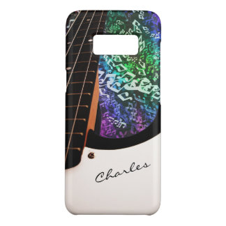Autographed Bass Guitar with Rainbow Notes Case