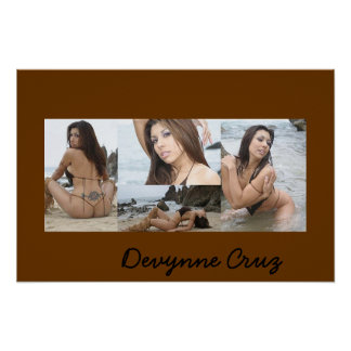 Autographed Photo of Devynne Poster