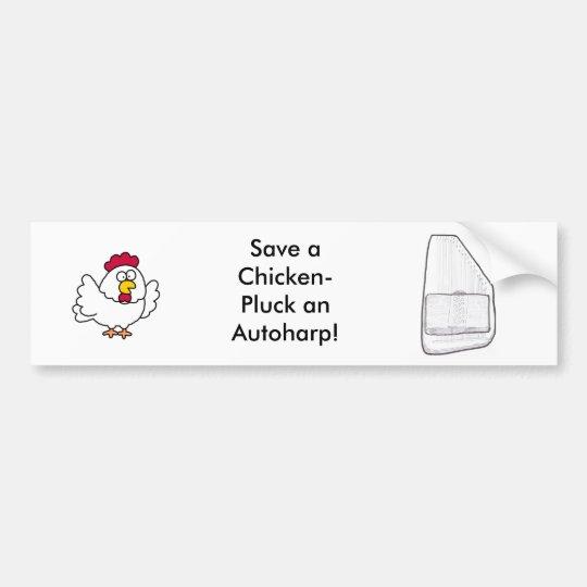 Autoharp bumper sticker