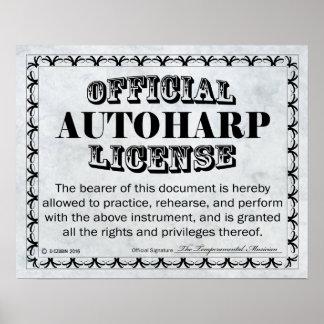 Autoharp License Poster