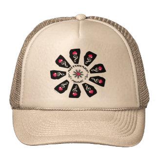 Autoharp Music Flower Trucker Hats