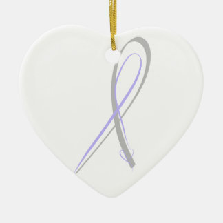 Autoimmune Encephalitis ribbon Ceramic Heart Decoration