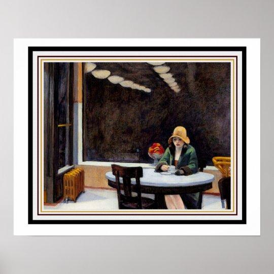 Automat by Edward Hopper 16 x 20 Poster