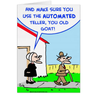 automated teller greeting card