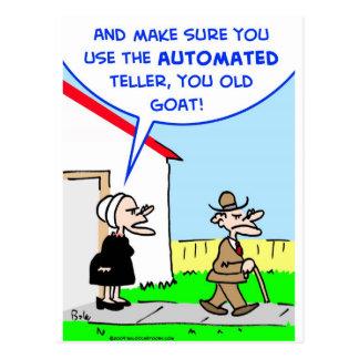 automated teller postcard