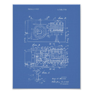 Automatic controller 1973 Patent Art Blueprint Poster