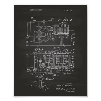 Automatic controller 1973 Patent Art Chalkboard Poster