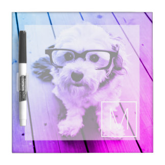 AUTOMATIC Filter of Your Photo & Monogram - Miami Dry Erase Whiteboards