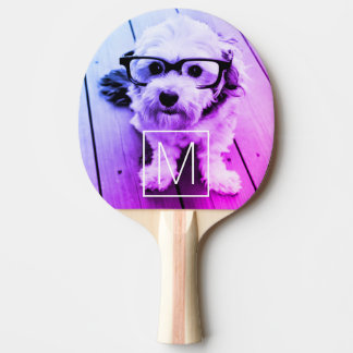 AUTOMATIC Filter of Your Photo & Monogram - Miami Ping Pong Paddle