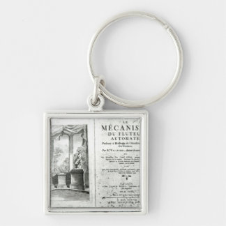 Automatons, illustration of the frontispiece Silver-Colored square key ring