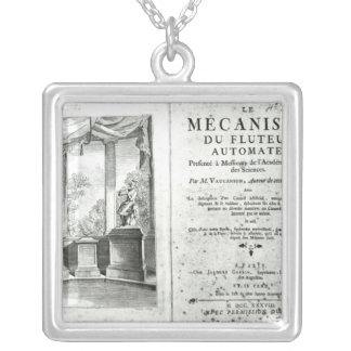 Automatons, illustration of the frontispiece silver plated necklace