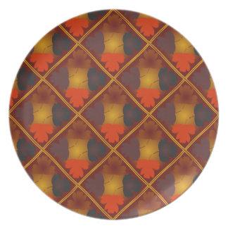 automne patterns plates