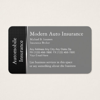 Automobile Insurance Business Card
