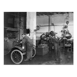 Automobile Repair Shop, 1919 Postcard