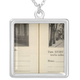 Automobile Roads, NY Silver Plated Necklace