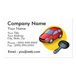 automobile salesman pack of standard business cards