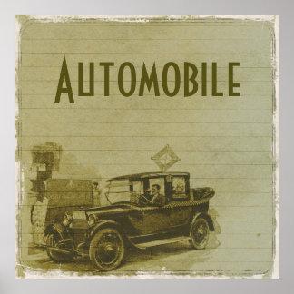 AUTOMOBILE | vintage car Poster