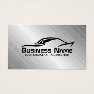 Automotive Auto Repair Cool Car Shape Metal Steel Business Card