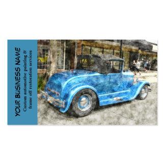 Automotive Blue Classic Car Automobile Mechanic Business Card