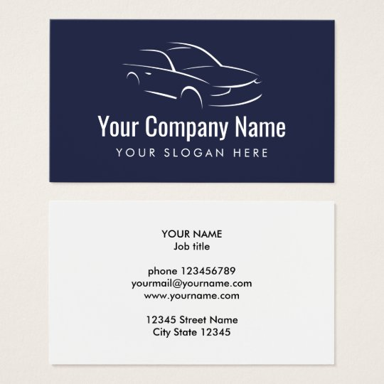 Automotive car company logo business card template
