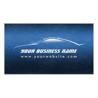 Automotive Cool Blue Car Outline Pack Of Standard Business Cards