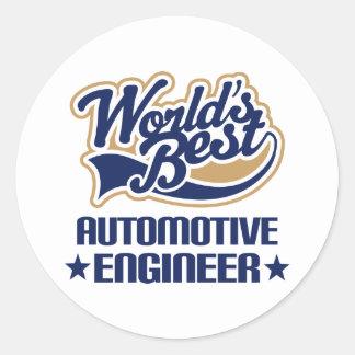 Automotive Engineer Gift Round Sticker