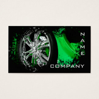 Automotive / Racing / Car Green Sport Fast Speed Business Card