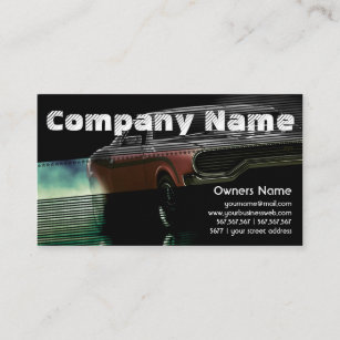 American car business cards business card printing zazzle uk automotive red american retro muscle car business card reheart Image collections
