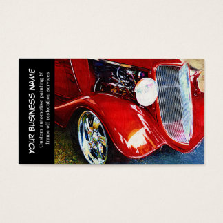 Automotive Red Classic Car Auto Painting Biz Business Card