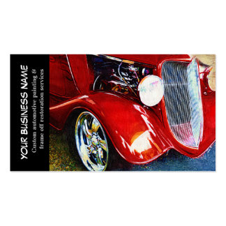 Automotive Red Classic Car Auto Painting Biz Pack Of Standard Business Cards