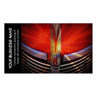 Automotive Red Classic Muscle Hotrod Engine Pack Of Standard Business Cards
