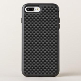 Automotive Style Black Carbon Fiber Print on a OtterBox Symmetry iPhone 8 Plus/7 Plus Case