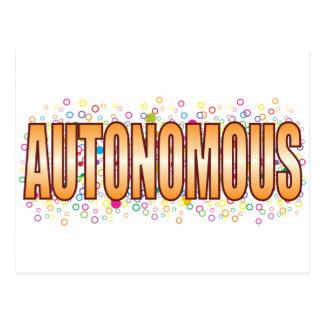 Autonomous Bubble Tag Postcard