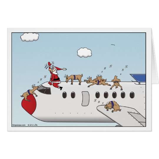 Autopilot Christmas Greeting Card