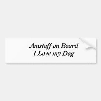 Autosticker Amstaff Bumper Sticker