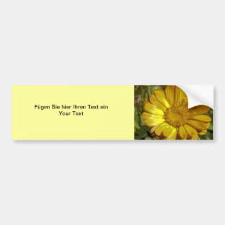 Autosticker bloom yellow bumper stickers