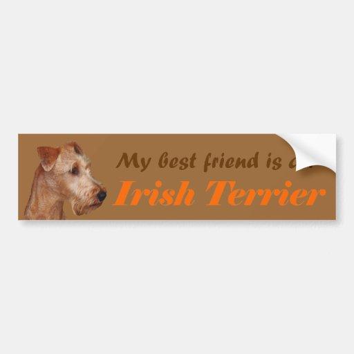 """Autosticker """"Irish Terrier """" Bumper Stickers"""