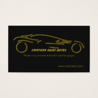 Autotrade Car - Gold Sportscar on black template