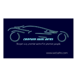 Autotrade Sportscar on blue template Business Card Template