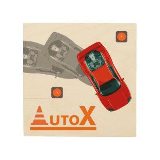 AuTOX-Red Wood Print