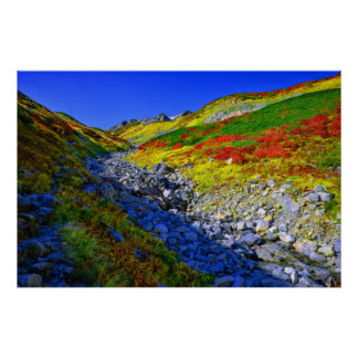 Autum Colored Mountain Poster